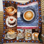 Theartsyhomes Coffee Printing Hqt-Qvk00071 3D Personalized Customized Quilt Blanket ESR31