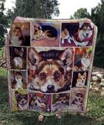 Theartsyhomes Corgi sad 3D Personalized Customized Quilt Blanket ESR44