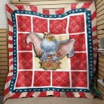 Theartsyhomes Dumbo Film 04 3D Personalized Customized Quilt Blanket ESR43