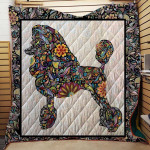 Theartsyhomes Colorful Poodle 1511-05 3D Personalized Customized Quilt Blanket ESR41