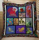 Theartsyhomes Dragon V10 3D Personalized Customized Quilt Blanket ESR17