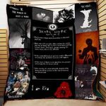 Theartsyhomes Death Note P170 Pd 3D Personalized Customized Quilt Blanket ESR38