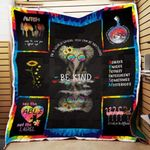 Theartsyhomes Be Kind Autism 3D Personalized Customized Quilt Blanket ESR21