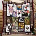 Theartsyhomes Donkey Printing Pm-Qct00008 3D Personalized Customized Quilt Blanket ESR41
