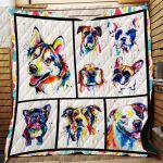 Theartsyhomes Dogs 3D Personalized Customized Quilt Blanket ESR9
