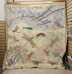 Theartsyhomes Dragonfly V16 3D Personalized Customized Quilt Blanket ESR47