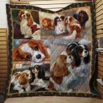 Theartsyhomes Cavalier King Charles Spaniel Dog 2 3D Personalized Customized Quilt Blanket ESR38