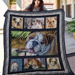 Theartsyhomes Bulldog Thqd38003 3D Personalized Customized Quilt Blanket ESR34
