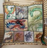 Theartsyhomes Dragon V16 3D Personalized Customized Quilt Blanket ESR23