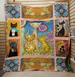 Theartsyhomes Family cat 3D Personalized Customized Quilt Blanket ESR14