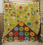 Theartsyhomes Be A Scout 3D Personalized Customized Quilt Blanket ESR15