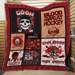 Theartsyhomes Blood Sweet Hockey 3D Personalized Customized Quilt Blanket ESR20