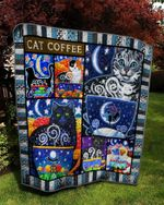 Theartsyhomes CAT coffee 2 3D Personalized Customized Quilt Blanket ESR32