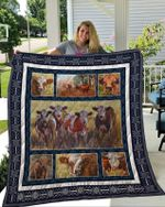 Theartsyhomes Cow 3D Personalized Customized Quilt Blanket ESR42