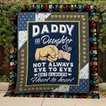 Theartsyhomes Daddy and Daughter 3D Personalized Customized Quilt Blanket ESR38