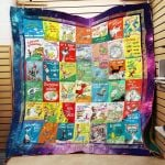 Theartsyhomes Dr. Seuss Books Everywhere 3D Personalized Customized Quilt Blanket ESR28
