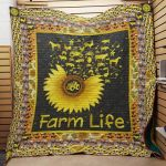 Theartsyhomes Farm Sunflower J2909 86o36 3D Personalized Customized Quilt Blanket ESR36
