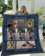 Theartsyhomes CUSTOM04 German Shepherd 3D Personalized Customized Quilt Blanket ESR18