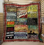 Theartsyhomes Fishing: Fish-You Were Here 3D Personalized Customized Quilt Blanket ESR5