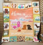 Theartsyhomes Dachshund 3D Personalized Customized Quilt Blanket ESR6