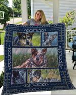 Theartsyhomes Blue Heelers 3D Personalized Customized Quilt Blanket ESR33