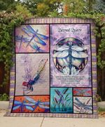 Theartsyhomes Dragonfly Space 3D Personalized Customized Quilt Blanket ESR17