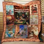 Theartsyhomes Book F1205 82o35 3D Personalized Customized Quilt Blanket ESR3