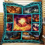 Theartsyhomes Fire Dragon Th394 3D Personalized Customized Quilt Blanket ESR25
