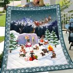 Theartsyhomes Dachshund Going Camping At Christmas 3D Personalized Customized Quilt Blanket ESR44