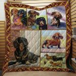 Theartsyhomes Dachshund Dog 5 3D Personalized Customized Quilt Blanket ESR43