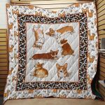 Theartsyhomes Corgi Dog 3D Personalized Customized Quilt Blanket ESR36
