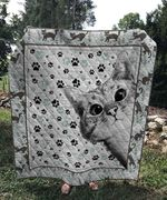 Theartsyhomes Cat love 3D Personalized Customized Quilt Blanket ESR48