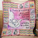 Theartsyhomes Elephant Mom M2202 83o40 3D Personalized Customized Quilt Blanket ESR25