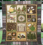 Theartsyhomes Camping Out In The Wood 3D Personalized Customized Quilt Blanket ESR29