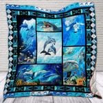 Theartsyhomes Dolphin 3D Personalized Customized Quilt Blanket ESR22