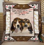 Theartsyhomes Beagle Quotes V1 3D Personalized Customized Quilt Blanket ESR17