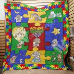 Theartsyhomes Elephant Autism M1101 83o33 3D Personalized Customized Quilt Blanket ESR10