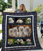 Theartsyhomes Bichon Frise Qui3001 3D Personalized Customized Quilt Blanket ESR14
