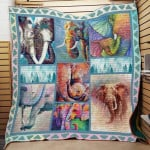 Theartsyhomes Elephant F1501 82o31 3D Personalized Customized Quilt Blanket ESR38