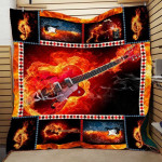 Theartsyhomes Fire Music Ttd-Qht0018 3D Personalized Customized Quilt Blanket ESR32
