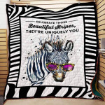 Theartsyhomes Beautiful Stripes Hd78 3D Personalized Customized Quilt Blanket ESR2