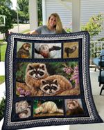 Theartsyhomes Ferret 3 3D Personalized Customized Quilt Blanket ESR5