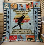 Theartsyhomes BOWLING Alley 3D Personalized Customized Quilt Blanket ESR36