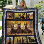 Theartsyhomes Doberman Qui19004 3D Personalized Customized Quilt Blanket ESR29