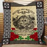 Theartsyhomes Falling In Love With You 3D Personalized Customized Quilt Blanket ESR8