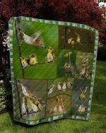 Theartsyhomes Bird Is Eating 3D Personalized Customized Quilt Blanket ESR18