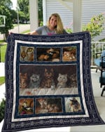 Theartsyhomes Cat 3 3D Personalized Customized Quilt Blanket ESR16