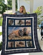 Theartsyhomes BISON 3D Personalized Customized Quilt Blanket ESR37