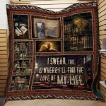 Theartsyhomes Book J1401 83o41 3D Personalized Customized Quilt Blanket ESR15