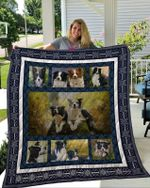 Theartsyhomes Border Collie 2 3D Personalized Customized Quilt Blanket ESR20